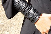 Cosas de cuero pulseras collares