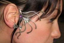 """Tours d'oreille / Divers modèles de tours d'oreille de """"l'atelier des elfes, bijoux"""" ambreagorn.free.fr"""
