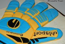 Goalkeeper glove cake / Goalkeeper glove cake