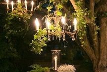 Tree chandeliers / Outdoor lighting