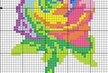 pixel KWIATKI