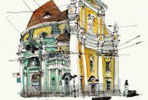 Urban Watercolor Sketching Inspiration