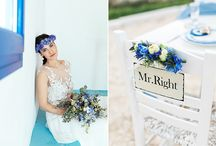 White and blue wedding inspiration in Antiparos - la fete wedding planning / cyclades