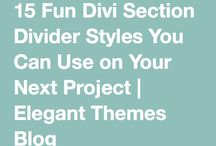 Divi Tutorials / Elegant Theme's best wordpress theme and some tips on how to make the most of it