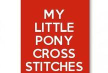 my little pony cross stitches