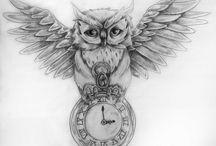 Owl Tattoo idea 1