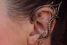Steampunk ear cuffs