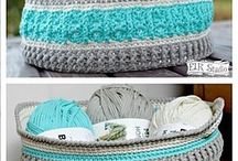 crochet baskets