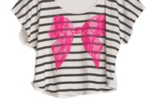 Pink bow tee