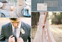 свадьба розовый серый