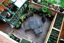balkon a zahrada