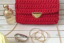 Сумки, корзинки вязаные из трикотажной пряжи / вязание, трикотажная пряжа, творчество, рукоделие