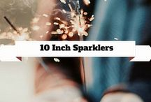 10 Inch Sparklers / This board is dedicated to 10 Inch Sparklers. Most commonly used for July 4th and Diwali Celebrations, they are becoming quite popular as an alternative to candles, especially for birthday cakes. / by Wedding Sparklers USA