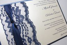 Wedding invitations navy blue
