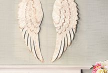 angel wings wooden or other materials for wall art