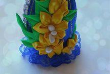 пасха - ленты и цветы
