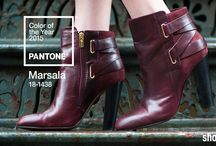 Pantone Color of the Year 2015: Marsala / our favorite shoe styles in Pantone's #Marsala / by Shoeline.com ♥