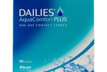 DAILIES AquaComfort Plus 90 Stück / sphärische Kontaktlinsen, Eintageslinsen