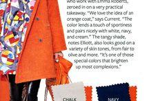 Colour trends clothes