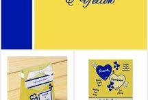 Wedding: royal blue and yellow