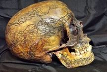 5 Carved Human Skulls for sale (One of them is REAL)