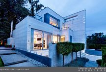 Modern House / Nowoczesny Dom / This house, interior and garden was created for famous polish fashion designer, co-founder of SIMPLE. (photography:  Aleksander Rutkowski and Hanna Długosz)