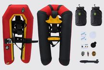Small Foot - inflatable snowshoes / Dascribes the product