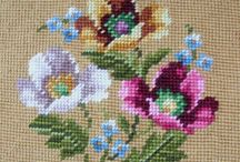 POPPY-FLOWERS* CROSS STITCH-EMBROIDERY / popy cross stitch ,gelincikler nakış kanaviçe
