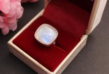 Moonstone Jewelry / Jewelry collection of Moonstone rings, earrings, pendants, and bracelets!