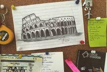 Desenhos arquitetônicos / Por Ju Capuci