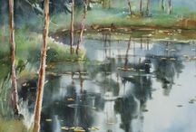 forest watercolour