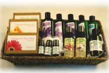 We carry a variey of custom gift baskets ! / Custom Gift Baskets