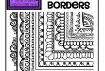 Zentangle borders