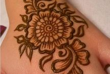 Henna patterns and tattoos