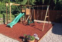 Safer Playground / Our Playground rubber mulch chippings are an innovative use of rubber as a loose fill premium safety surface. The chippings are coloured using our unique polyurethane colourant, which gives the playground rubber mulch a high quality surface that is vibrant and hard wearing.
