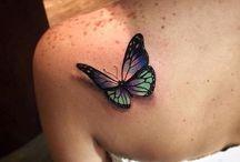 tatto motýl