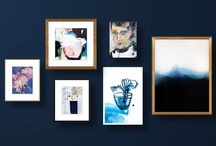 Walls: Living With Art / Examples and suggestions of how to decorate your home with art creatively.