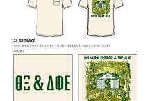 Delta Phi Epsilon / Delta Phi Epsilon custom shirt designs #deltaphiepsilon #dfe #dpe  For more information on screen printing or to get a proof for your next shirt order, visit www.jcgapparel.com