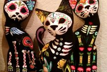 Dia De Los Muertos / Calaveras, Sugar Skulls, Day of the Dead / by Apryl Autymn Rayne-Boyd