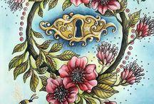 Meditative colouring inspiration