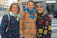 Thermojackets / Thermojackets made african wax print with quiltet thermo lining