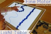 Light table activities