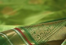 Varna Sutra: Haritha / This week in Varna Sutra, we curate a collective of kanjivaram saris that focus on the many moods of green, or Haritha, in Sanskrit. There is, arguably, no color more versatile or closer to nature than green - the various shades ranging from brilliant jewel tones to soft pastel hues, and it is a delight to see the dyer's naming of various shades of greens in Tamil, thereby constructing an exclusive and total relationship with nature.