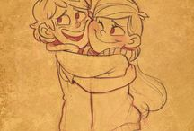 Dipper X Mabel (PINECEST) and rev. pinecest