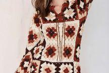square crochet roupas