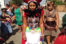 Zulu traditional wedding attire and decore