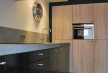 Keukens met houten elementen