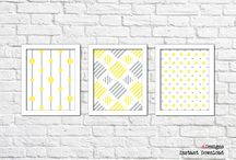 Yellow Wall Decor