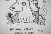 #100DaysOfDogs / Dog portraits/ sketches/ illustrations for 100 days. A project by Tarsila Krüse  / by Tarsila Krüse