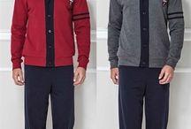 Sonbahar Kış Erkek Pijama Takımları / Yeni Sezon Erkek Pijama Takımları